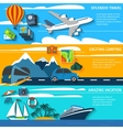 Travel vacation camping banners set vector image