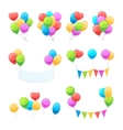 Cartoon balloon set vector image
