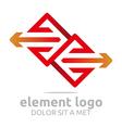 element red arrow orange design symbol icon vector image