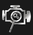 engine diagnosis and repair symbol vector image