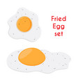 fried egg breakfast chicken meal vector image