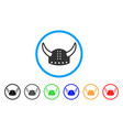 horned helmet rounded icon vector image