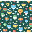 Hot Air Balloons - Seamless Pattern vector image