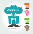 hug and love cooking logo vector image