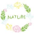 Nature Flowaer Wreath vector image