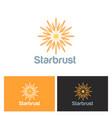 star shine solar logo vector image