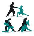 Couple dancing argentine tango vector image vector image