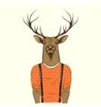 Modern deer hipster vector image