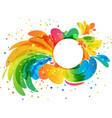 splash circle frame vector image vector image