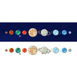 solar system planets space universe galaxy vector image