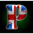 Great Britain metal figure p vector image vector image