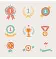 First Place Badges and Ribbons vector image