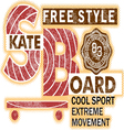 SkateBoard typography t-shirt graphics vector image