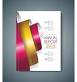 Brochure cover design spiral elements vector image vector image