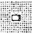 Collection flat icons Eectronic devices symbols vector image