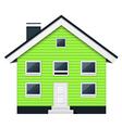 Green scandinavian condominium - townhouse vector image vector image