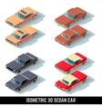 Isometric 3D sedan car city transport vector image vector image