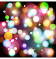Abstract background with color bokeh lights vector image
