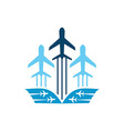 Air Plane Logistic Delivery vector image