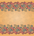 card with seamless flower ornament vector image