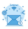 email internet social media applications online vector image