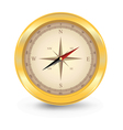 Golden compas vector image