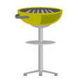 kettle barbecue grill cartoon vector image