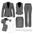 The Outfits for the Professional Business Women vector image