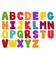 stylized colorful font and alphabet vector image