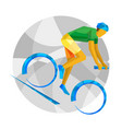 mountain bike with abstract patterns vector image
