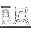 city tram line icon vector image