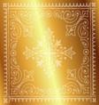 Beautiful Vintage Floral Gold Background vector image