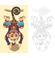 coloring book page for adults with unusual vector image vector image
