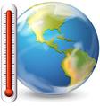 Hot earth concept flashcard vector image
