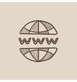 Globe internet sketch icon vector image