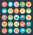 Love and Romance Colored Icons 2 vector image