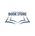 book store logo education and book emblem vector image