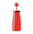 bottle of juice isolated on white background vector image