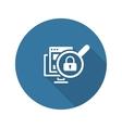 Internet Security Icon Flat Design vector image