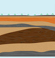 layers of soil for construction vector image