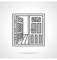 Rent of premises icon line style vector image