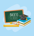 school tools to education and learn things vector image