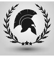 Spartan helmet silhouette vector image