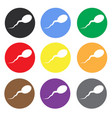 sperm color icon set flat icon for mobile and web vector image