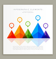 abstract colorful infographic template vector image