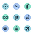 set of simple plane icons vector image vector image