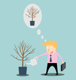 Businessman Investation Watering vector image vector image