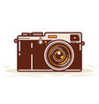 Classic Analog Camera vector image