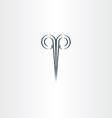 Scissors hair salon stylized black logo vector image