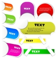 colorful paper bookmarks set vector image